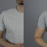 Mangas de camiseta - comparativa en camisetas hombres gris 2