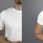 Mangas de camiseta - comparativa en camisetas hombres blancas 2