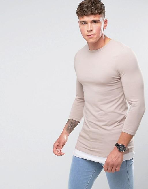 Mangas de camiseta - manga tres cuartos - camisetas hombre
