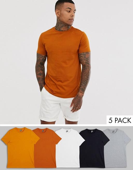Camisetas básicas para hombre de colores anaranjados