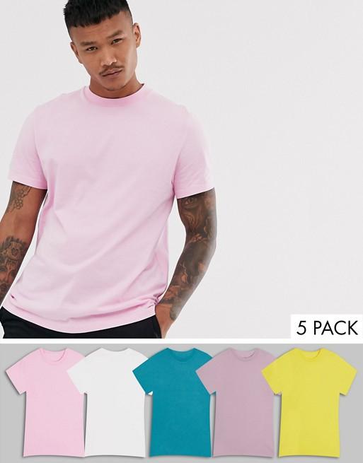 Camisetas básicas de hombre colores pasteles