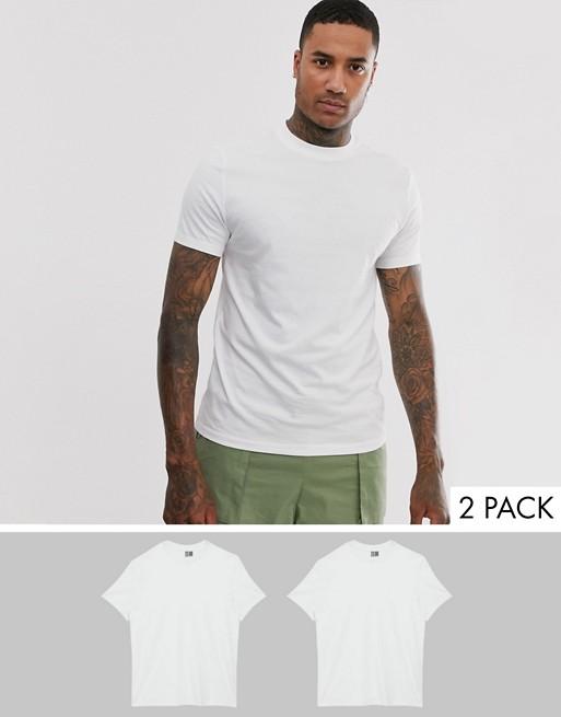 Camiseta básica de hombre de color blanco