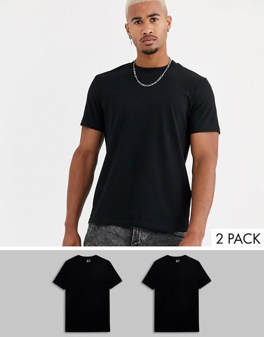 Camisetas básicas de hombre en color Negro